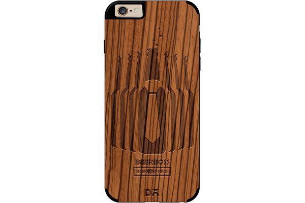 Beer Iz Boss Real Wood Zebra Case For iPhone 6