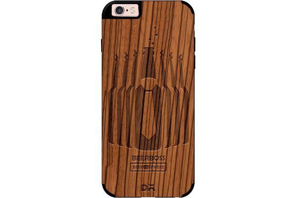 Beer Iz Boss Real Wood Zebra Case For iPhone 6S