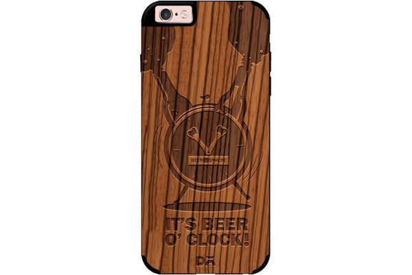 Beer O'Clock Froth Real Wood Zebra Case For iPhone 6S