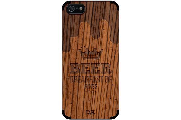 Beer BoK Real Wood Zebra Case For iPhone 5/5S