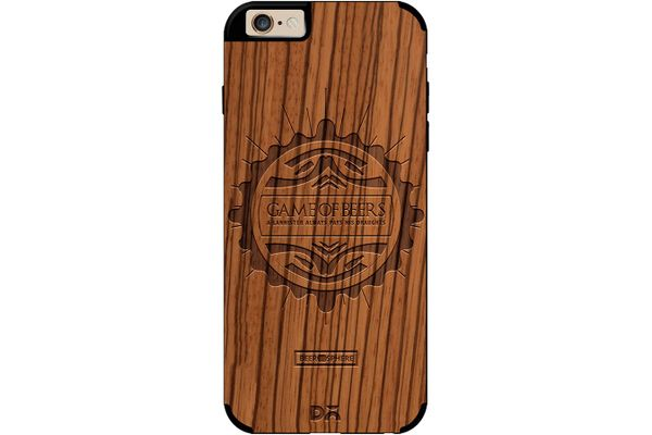 Beer GoT Real Wood Zebra Case For iPhone 6