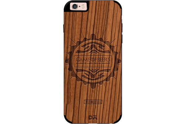 Beer GoT Real Wood Zebra Case For iPhone 6S