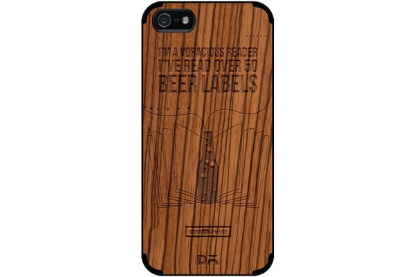 Beer Labels Real Wood Zebra Case For iPhone 5/5S