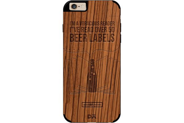 Beer Labels Real Wood Zebra Case For iPhone 6