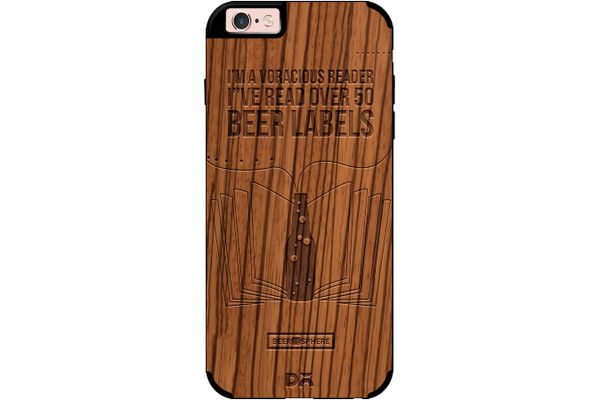 Beer Labels Real Wood Zebra Case For iPhone 6S