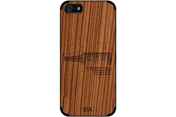 Beer O'Clock Real Wood Zebra Case For iPhone 5/5S
