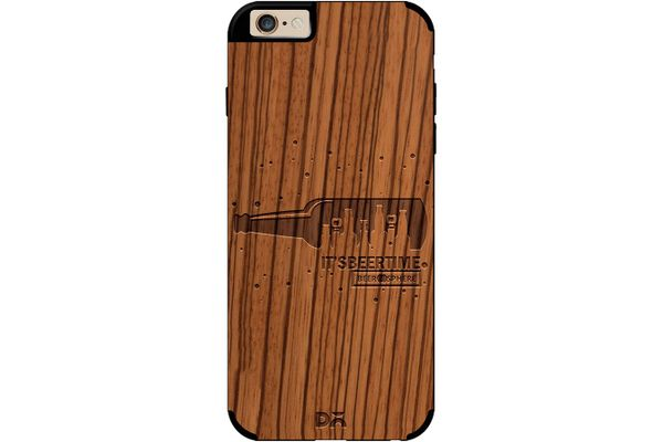 Beer O'Clock Real Wood Zebra Case For iPhone 6