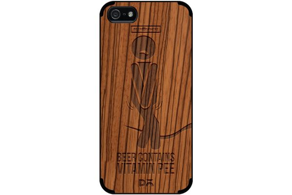Beer Pressure Real Wood Zebra Case For iPhone 5/5S