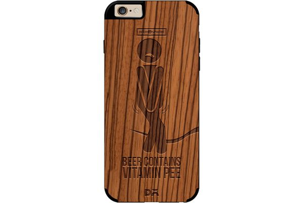 Beer Pressure Real Wood Zebra Case For iPhone 6