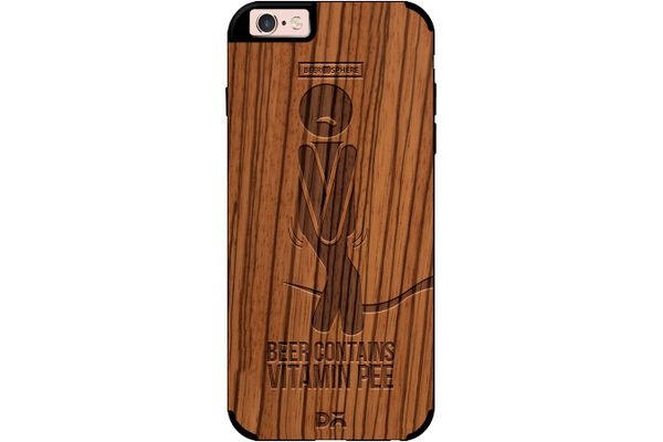 Beer Pressure Real Wood Zebra Case For iPhone 6S
