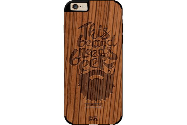 Beer Shampoo Real Wood Zebra Case For iPhone 6