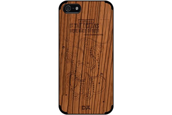 Beer topus Real Wood Zebra Case For iPhone 5/5S
