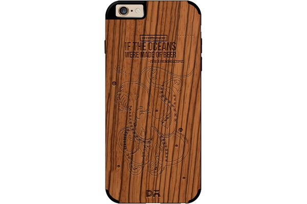 Beer topus Real Wood Zebra Case For iPhone 6