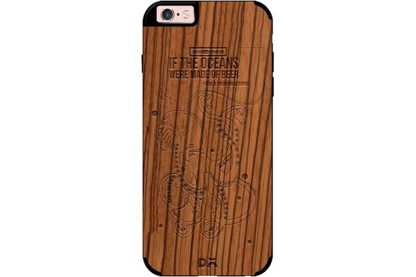 Beer topus Real Wood Zebra Case For iPhone 6S