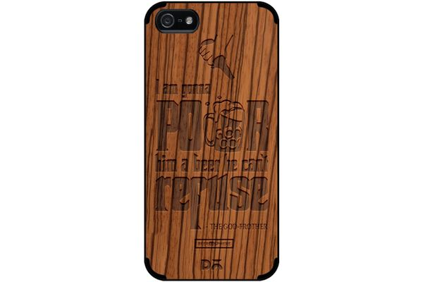 Cant Refuse Beer Real Wood Zebra Case For iPhone 5/5S