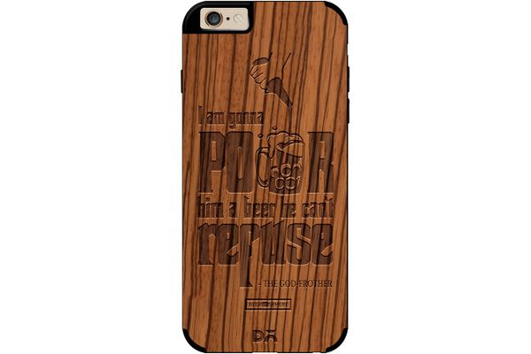 Cant Refuse Beer Real Wood Zebra Case For iPhone 6