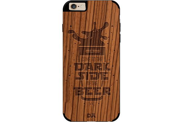 Dark Beer Rules Real Wood Zebra Case For iPhone 6