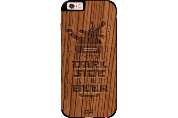 Dark Beer Rules Real Wood Zebra Case For iPhone 6S