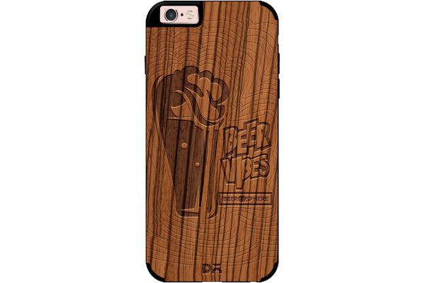 Dizzy Beer Vibes Real Wood Zebra Case For iPhone 6S