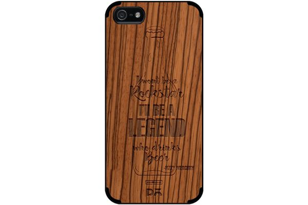 Legends of Beer Real Wood Zebra Case For iPhone 5/5S