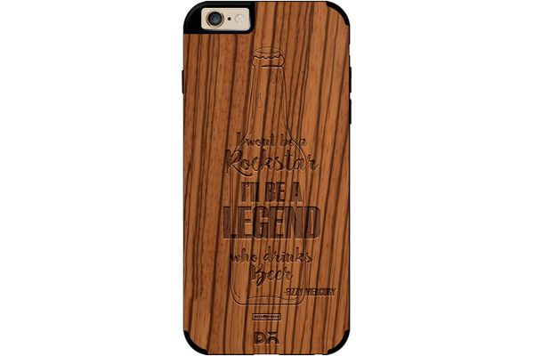 Legends of Beer Real Wood Zebra Case For iPhone 6