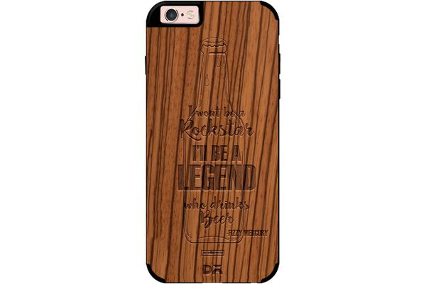 Legends of Beer Real Wood Zebra Case For iPhone 6S