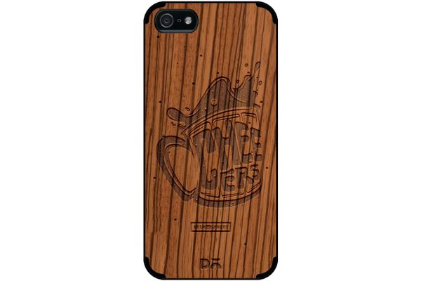 Life is BREWtiful Real Wood Zebra Case For iPhone 5/5S