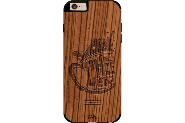 Life is BREWtiful Real Wood Zebra Case For iPhone 6
