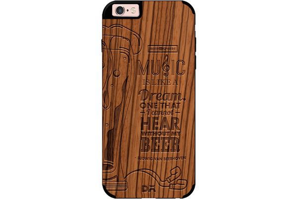 No Beer No Hear Real Wood Zebra Case For iPhone 6S