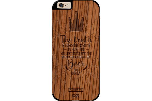 Truth Is Beer Real Wood Zebra Case For iPhone 6