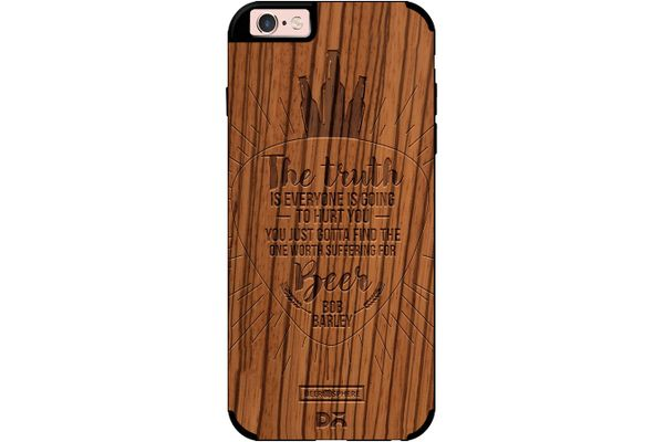 Truth Is Beer Real Wood Zebra Case For iPhone 6S