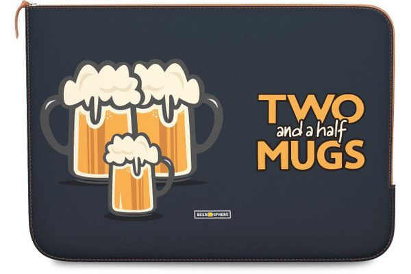 """Beer 2.5 Mugs Real Leather Zippered Sleeve For MacBook Pro 15"""""""