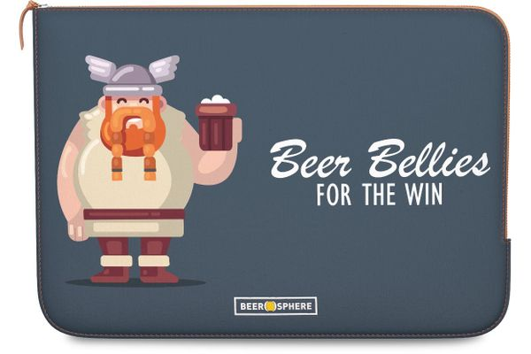 Beer Bellies FTW Real Leather Zippered Sleeve For MacBook Air 11""