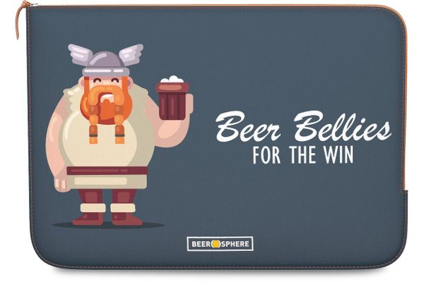 Beer Bellies FTW Real Leather Zippered Sleeve For MacBook Pro 13""