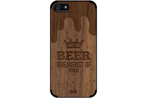 Beer BoK Real Wood Maple Case For iPhone 5/5S