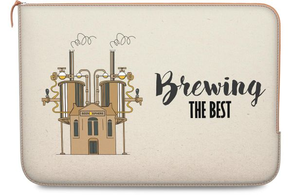 """Beer Brewing The Best Real Leather Zippered Sleeve For MacBook Pro 13"""""""