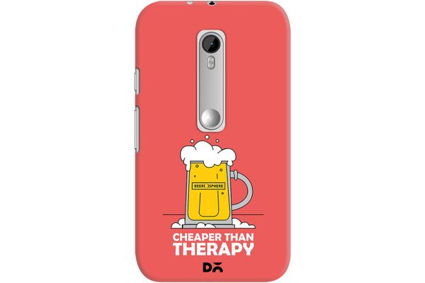 Beer Cheap Therapy Case For Motorola Moto G3