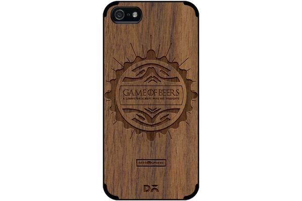 Beer GoT Real Wood Maple Case For iPhone 5/5S