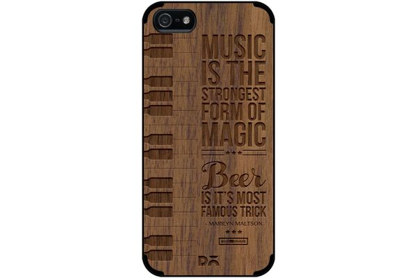 Beer Magic Real Wood Maple Case For iPhone 5/5S