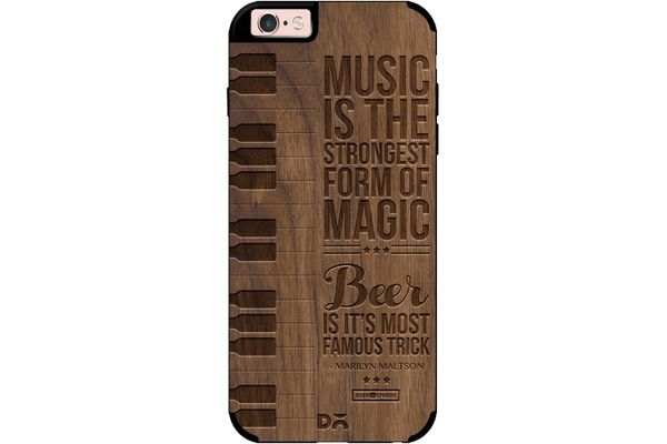 Beer Magic Real Wood Maple Case For iPhone 6S