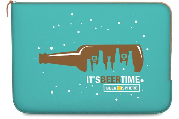 """Beer O'Clock Real Leather Zippered Sleeve For MacBook 12"""""""