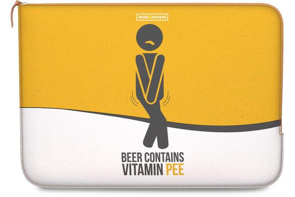 """Beer Pressure Real Leather Zippered Sleeve For MacBook Pro 13"""""""