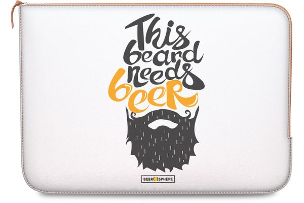 """Beer Shampoo Real Leather Zippered Sleeve For MacBook 12"""""""