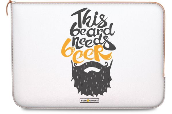 """Beer Shampoo Real Leather Zippered Sleeve For MacBook Pro 13"""""""