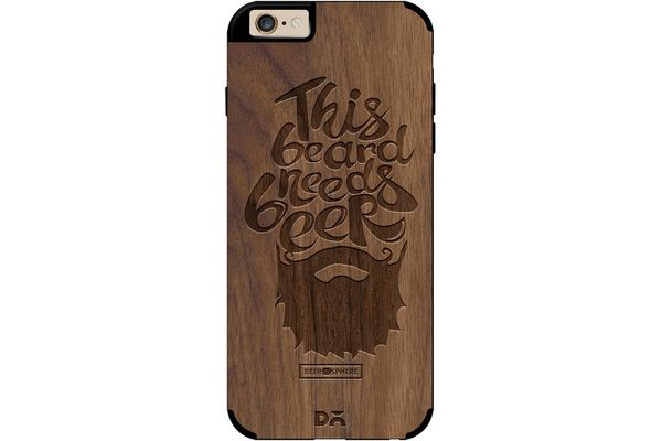Beer Shampoo Real Wood Maple Case For iPhone 6