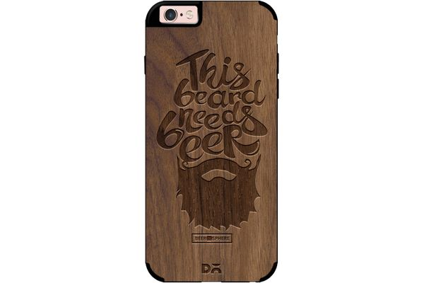 Beer Shampoo Real Wood Maple Case For iPhone 6S