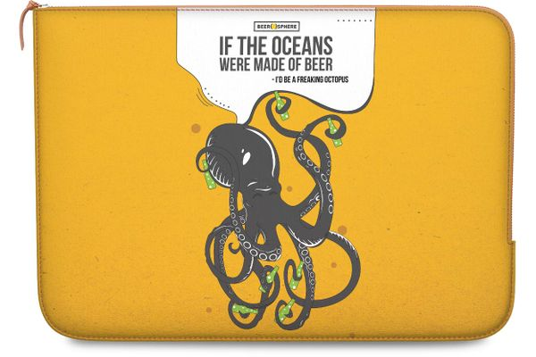 Beer topus Real Leather Zippered Sleeve For MacBook 12""