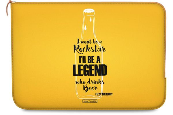 """Legends of Beer Real Leather Zippered Sleeve For MacBook Pro 13"""""""