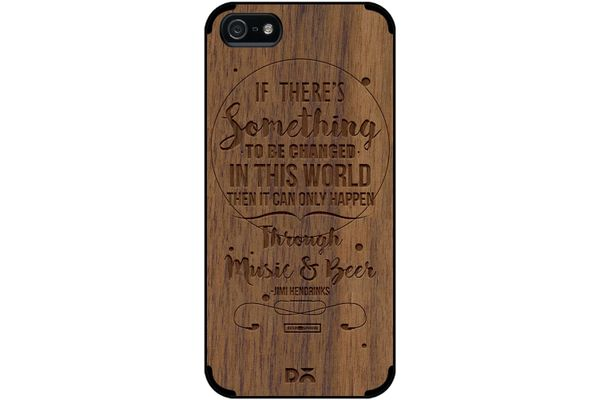 Music & Beer Real Wood Maple Case For iPhone 5/5S