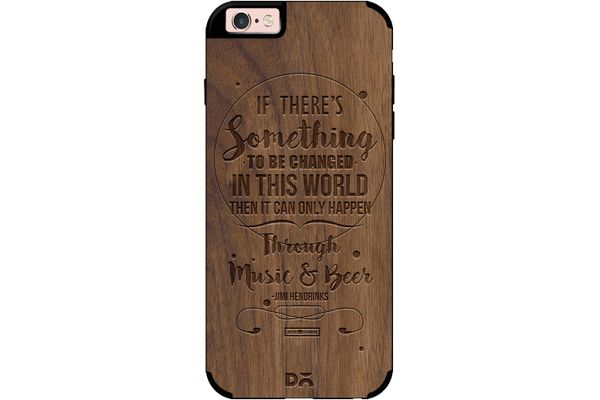 Music & Beer Real Wood Maple Case For iPhone 6S